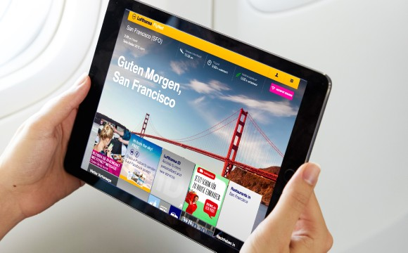Testet Online-Einkauf im Flugzeug