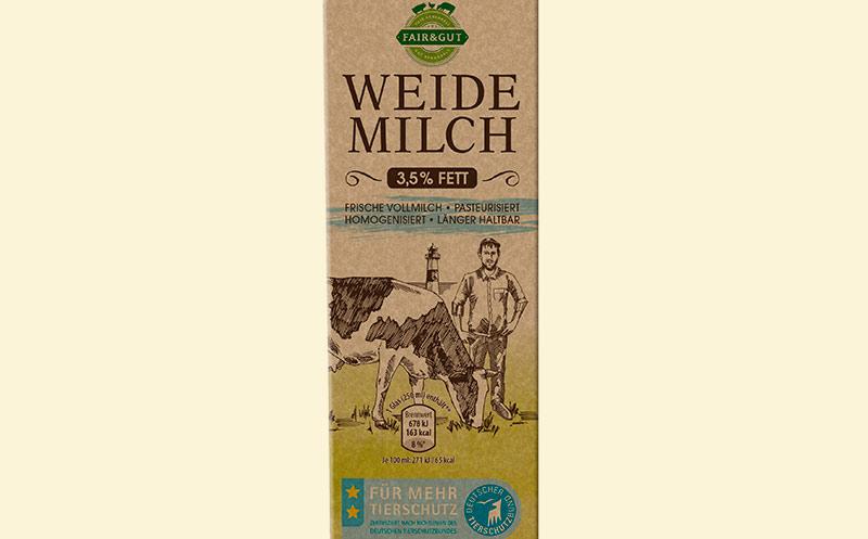Weidemilch mit Tierschutz-Label