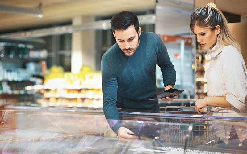 Verbraucher in Kauflaune