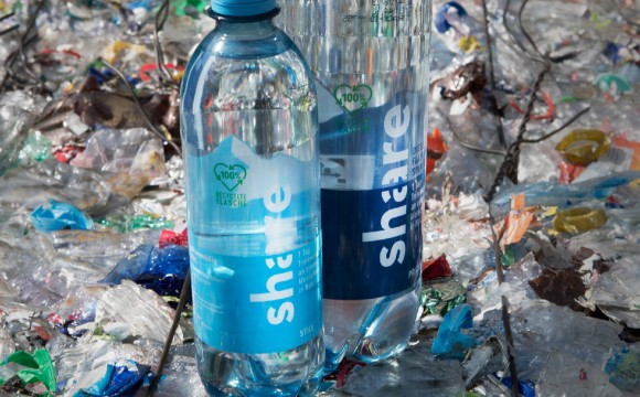 Rewe / Share: Erste Wasserflasche aus reinem Recyclat