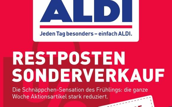 Aldi Nord: Restpostenverkauf erstmals auf Handzettel