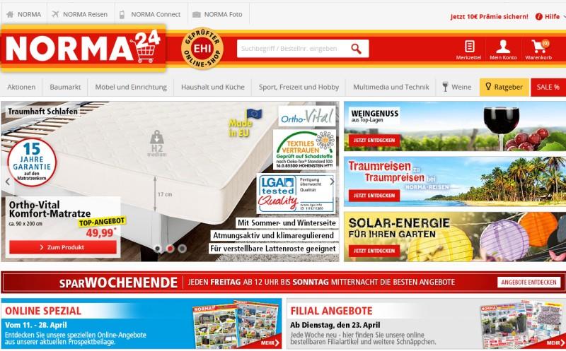 Norma: Vorn im Online-Shop-Ranking