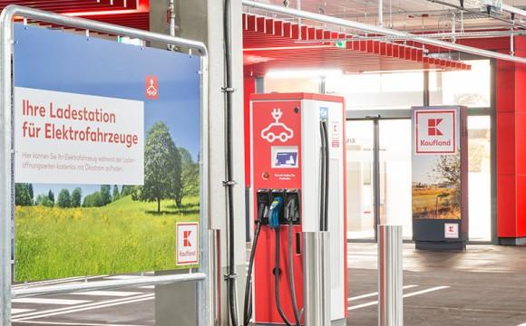 Kaufland : Installiert Ladestationen für Elektroautos