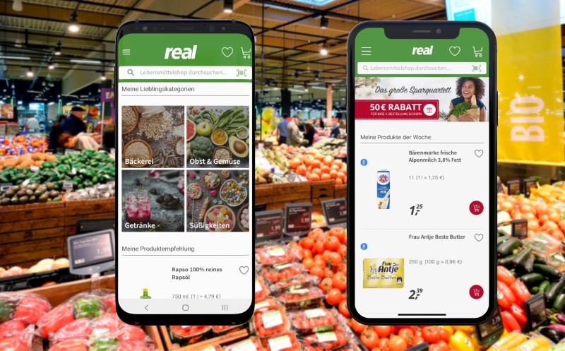 Lebensmitteleinkauf per App