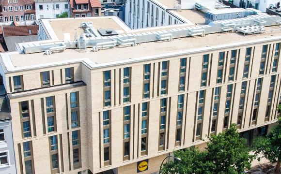 Integrierter Standort mit Hotel