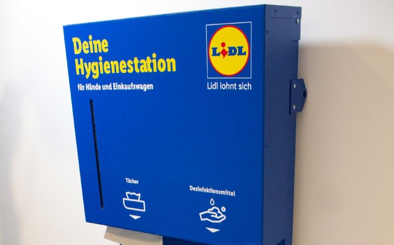 Hygienestationen bei Lidl und Kaufland