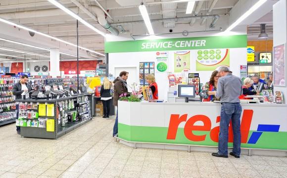 Real: Kleingeld-Wechsel-Service per Automat