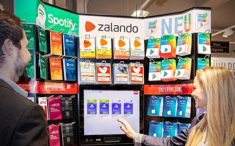 E-Kiosk für Gutscheinkarten