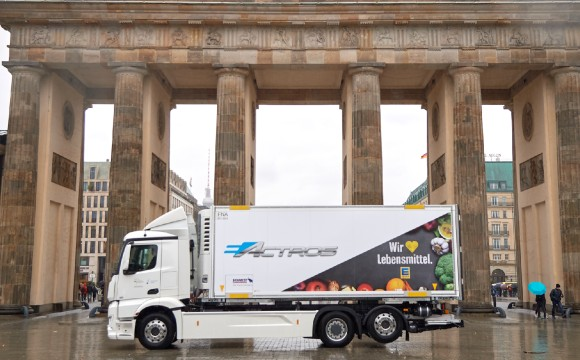 Edeka: E-Truck-Test zusammen mit Mercedes-Benz