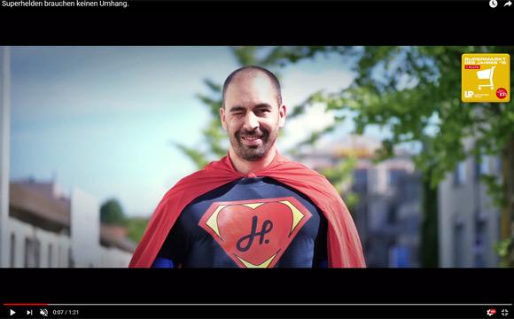 Supermann im Markt