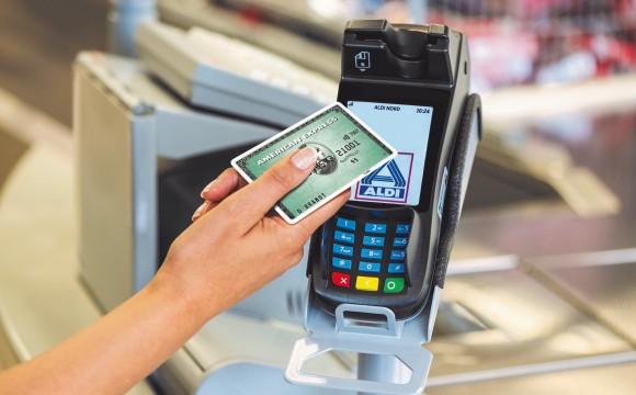 Aldi Nord:Bezahlen mit American Express