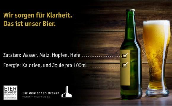 Bier: Kalorienangaben kommen aufs Etikett