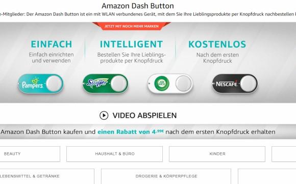 "Weitet Angebot an ""Dash""-Buttons aus"