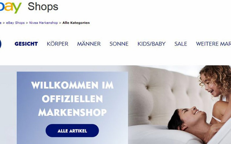 Eigener Markenshop bei Ebay