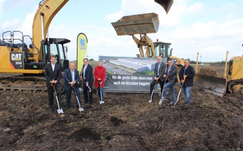 Baubeginn des neuen Frischelagers in Neumünster